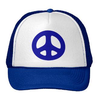 Big Blue Peace Sign Hats