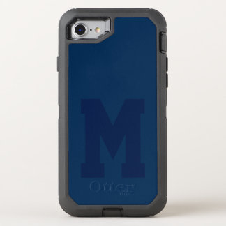 Big Blue Varsity Monogram OtterBox Defender iPhone 8/7 Case