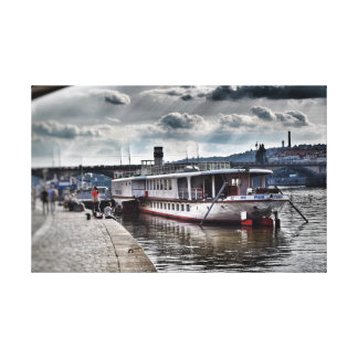 Big Boat in Prague Canvas Print