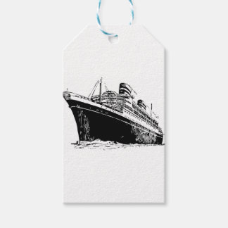 big boat in sea gift tags