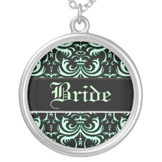 Big Bold Damask Apple Green Wedding Jewelry
