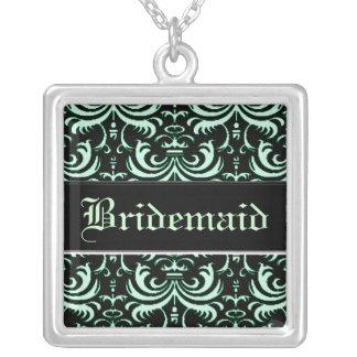 Big Bold Damask (Apple Green) (Wedding) Necklace