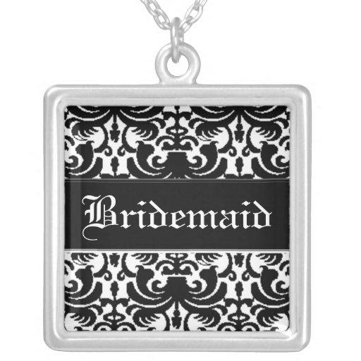 Big Bold Damask (Black) (Wedding) Jewelry