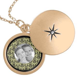 Big Bold Damask Photo Frame Gold Custom Jewelry