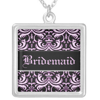 Big Bold Damask (Pink) (Wedding) Custom Necklace