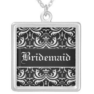 Big Bold Damask (White) (Wedding) Necklaces