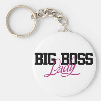 Big Boss Lady Basic Round Button Key Ring