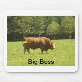 Big Boss - Limousin Bull Mouse Pad