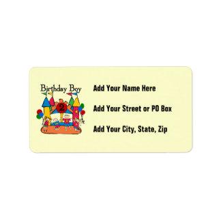 Big Bounce Boy 2nd Birthday Tshirts and Gifts Address Label