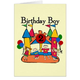 Big Bounce Boy 2nd Birthday Tshirts and Gifts Greeting Card