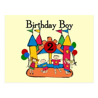 Big Bounce Boy 2nd Birthday Tshirts and Gifts Postcard