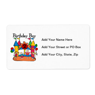 Big Bounce Boy 2nd Birthday Tshirts and Gifts Shipping Label
