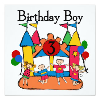 Big Bounce Boy 3rd Birthday T shirts and Gifts Card
