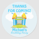 Big Bouncy Bounce House Birthday Favour Sticker