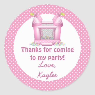 Big Bouncy Bounce House Birthday Thank You Sticker