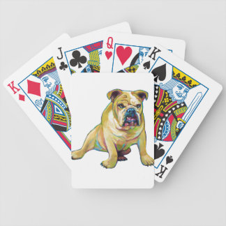 Big Boy Cute Bulldog Bicycle Playing Cards