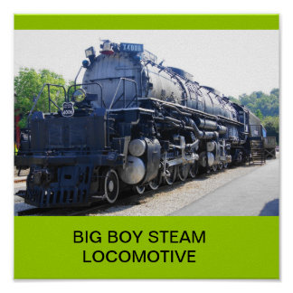 BIG BOY STEAM LOCOMOTIVE POSTER
