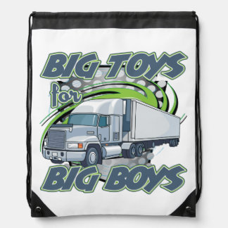 Big Boys Big Toys Truck Drivers Drawstring Bag Backpacks