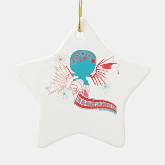 Big-Brained Superhero Da Vinci Flying Avatar Ceramic Ornament