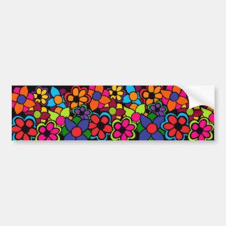 Big Bright Flowers Bumper Sticker