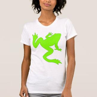 Big Bright Green Frog Silhouette T Shirt