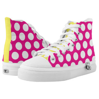 Big Bright Polka Dots Printed Shoes