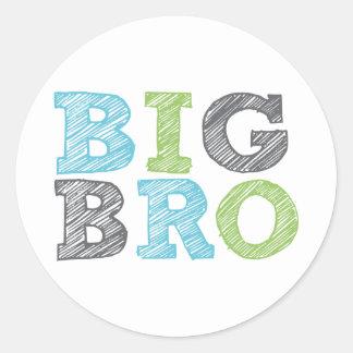 Big Bro Classic Round Sticker