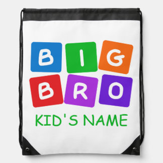 Big Bro custom bag Drawstring Backpacks