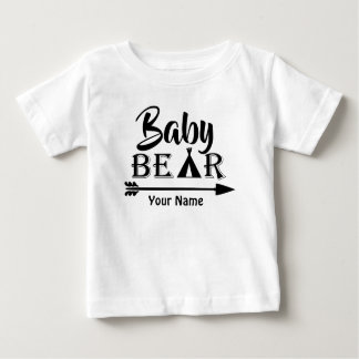 Big Brother Arrow Bear Personalised Baby T-Shirt