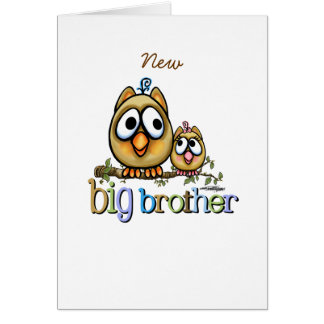 Big Brother - Baby Sis Owls Card
