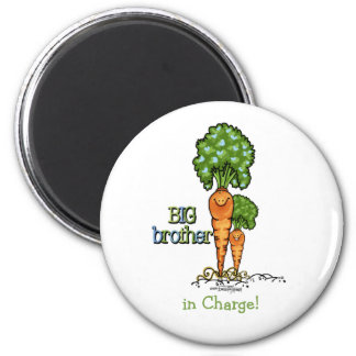 Big Brother - Carrot 6 Cm Round Magnet