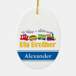 Big Brother Choo Choo Train Ceramic Ornament