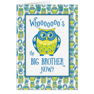 Big Brother Congratulations, Cute Owls Card