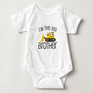 Big Brother Construction Front Loader Baby Bodysuit