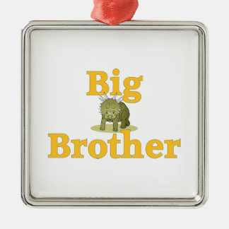 Big Brother Dinosaur 3 Silver-Colored Square Decoration