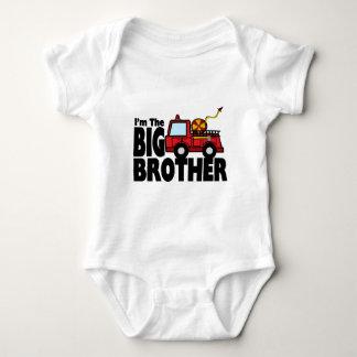 Big Brother Fire Truck Baby Bodysuit
