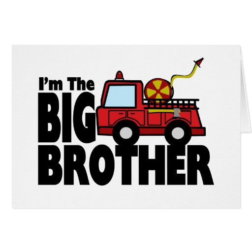 Big Brother Fire Truck Greeting Card