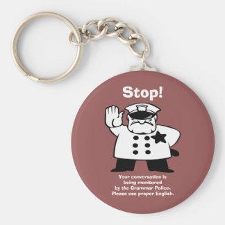Big Brother Grammar Police Basic Round Button Key Ring