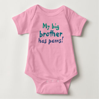 Big brother has paws baby bodysuit
