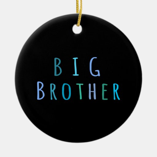 Big Brother in blue Christmas Tree Ornaments