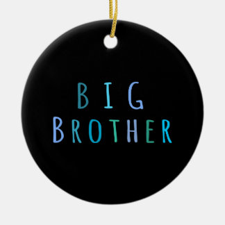 Big Brother in blue Round Ceramic Decoration