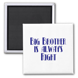 Big Brother Is Always Right Square Magnet