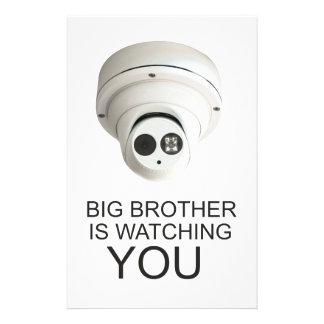 Big brother is watching you 14 cm x 21.5 cm flyer