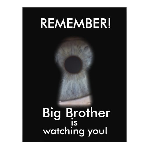 Big brother is watching you personalized flyer