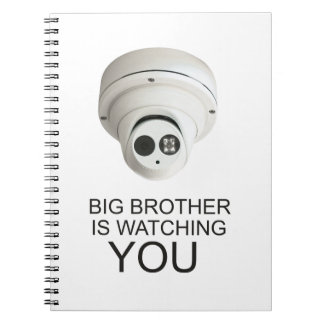 Big brother is watching you spiral notebook