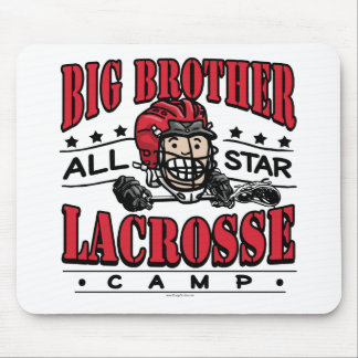 Big Brother Lacrosse Red Helmet Mouse Pad
