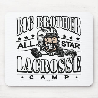 Big Brother Lacrosse White Helmet Mouse Pad