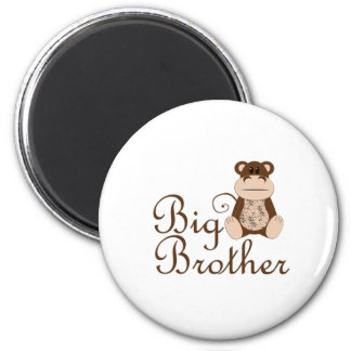 Big Brother Monkey 6 Cm Round Magnet