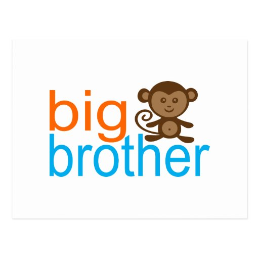 Big Brother Monkey Postcards