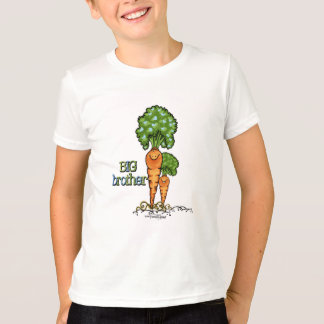 Big Brother  - orange Carrot Veggie T-Shirt